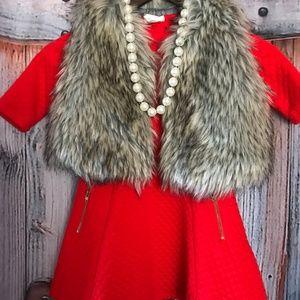 Crazy 8 Red Dress Girl Xs 4